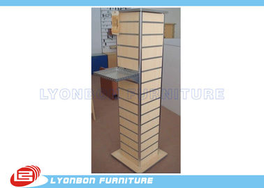 Melamine Finished Slatwall Display Stands Customized With MDF / Metal