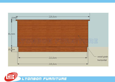 MDF Cash Counter For Shop Payment